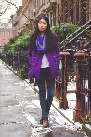Old Navy jacket - My Hot Shoes boots - PacSun jeans - Express scarf