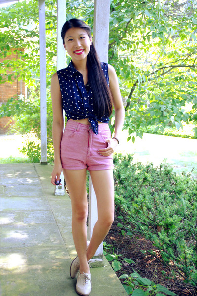 Ralph Lauren top - Forever 21 shoes - vintage shorts
