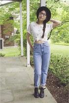6ks shirt - MIA boots - calvin klein jeans - vintage hat