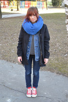 blue REPLAY blazer - black Gate coat - navy New Yorker jeans