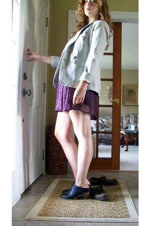 beige New York & Company blazer - purple Charlotte Russe dress - black Deena & O