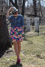 Navy-comfortable-target-shirt-magenta-toms-shoes-francescas-dress