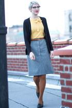 vintage skirt - Joe Fresh tights - vintage blouse
