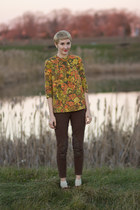 vintage blouse - gift pants