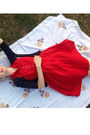 Red-vintage-from-etsy-dress-navy-thrifted-cardigan