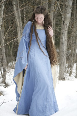sky blue medieval Kellie Falconer dress