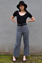 gray vintage levi strauss pants - black American Apparel - black Arturo Chiang s