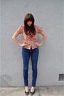 Red-anne-klein-blouse-black-vintage-scarf-blue-bdg-jeans-black-vintage-ita