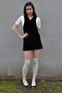 Black-vintage-dress-white-vintage-blouse-white-socks-black-arturo-chiang-s