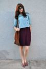 Blue-thrifted-blouse-purple-thrifted-skirt-brown-vintage-purse-red-vintage