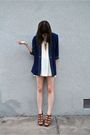 Blue-vintage-blazer-beige-vintage-skirt-gold-forever-21-necklace-brown-cyn