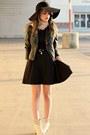 Black-foreign-exchange-dress-black-needsupply-hat-dark-gray-pacsun-jacket
