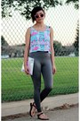 Shiny-victorias-secret-leggings-tribal-fresh-tops-top