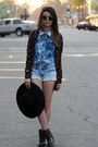 Sky-blue-denim-pacsun-shorts-bronze-fringe-charlotte-russe-bag