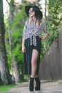 Black-stripes-romwe-blouse-black-sheer-sheinside-skirt