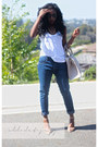 Blue-zara-jeans-heather-gray-bag-nude-zara-sandals-white-zara-top