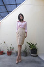 Light-pink-eyelet-vintage-shirt-nude-patent-leather-newlook-heels
