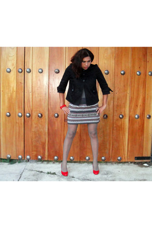 black Sasha sweater - heather gray thast it t-shirt - ruby red heaven heels