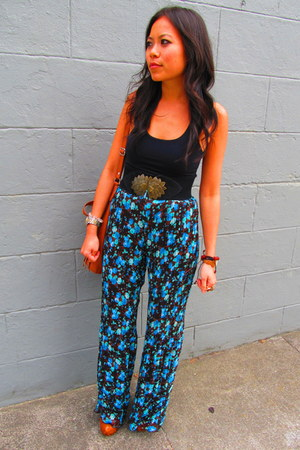 dainty pants - Mango bag - Primark belt - Jessica Simpson clogs - Bebe top