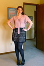 Light-pink-chiffon-forever-21-shirt-black-worthington-tights