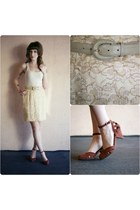 vintage skirt - modcloth heels