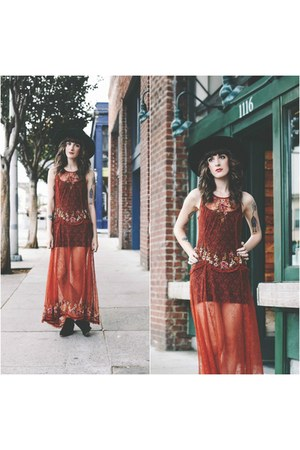 free people dress - vintage hat