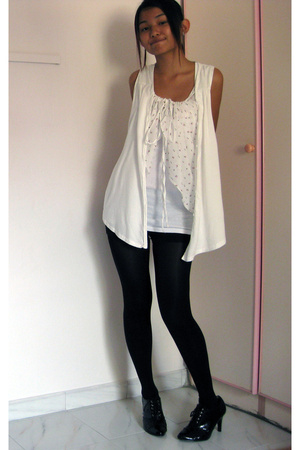 vest - Topshop top - Dorothy Perkins tights - shoes