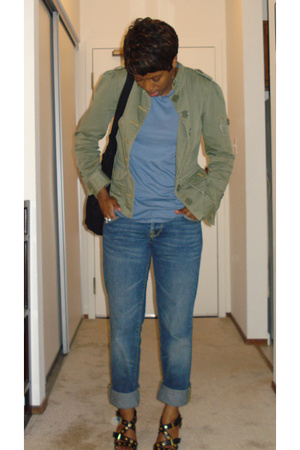 Marc by Marc Jacobs jacket - Splendid t-shirt - vintage jeans - Zara shoes