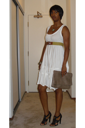 Zara dress - balenciaga shoes - asos purse - Old Navy belt