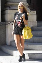 Givenchy t-shirt - Zara boots - balenciaga bag