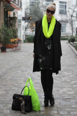 Bershka scarf - Mulberry bag - asos bag - Zara skirt