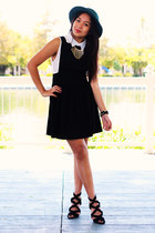 black Topshop dress