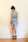 Denim-out-of-a-strobe-vintage-dress