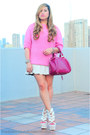 Hot-pink-leather-bag-louis-vuitton-bag-bubble-gum-knit-wear-zara-jumper