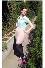 Green-tommy-hilfiger-blouse-neutral-3-suisses-skirt-silver-pandora-bracelet