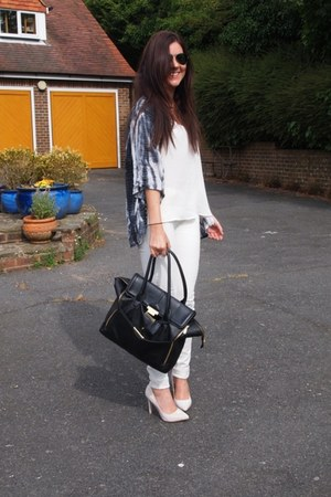 Carvela heels - Topshop top - River Island cape