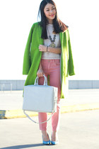 chartreuse Topshop coat
