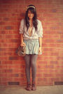 Brown-vintage-boots-blue-target-skirt-vintage-dotti-shirt-stripey-shirt-