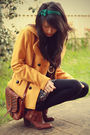 bag vintage accessories - Urban Outfitters boots - Target coat