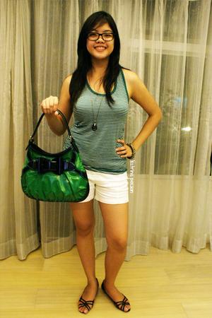 Gucci accessories - Zara blouse - Zara shorts