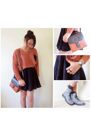 Lovelygirl sweater - Dr Martens boots - bag - mr mustache diva ring