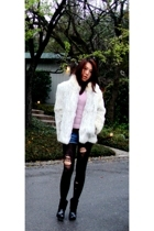 forever 21 shorts - vintage jacket - BCBG shoes