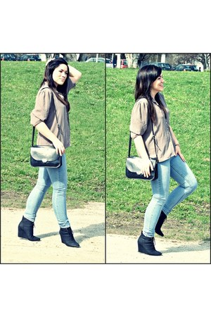 black black no name wedges - periwinkle skinny jeans Denim Co jeans