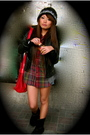 Black-zara-jacket-gray-zara-cardigan-red-ralph-lauren-top-black-boots-re