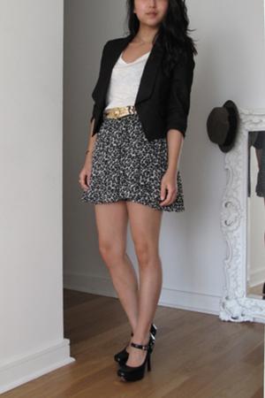 Club Monaco blazer - Kain shirt - Zara skirt - Gucci shoes