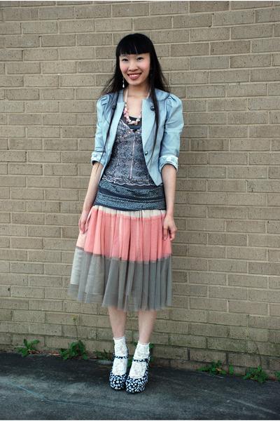 heather gray Ebay blazer - white Charlotte Russe socks - heather gray twelve by