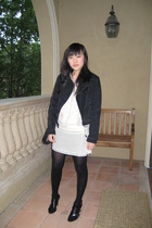 Topshop Boutique jacket - Kimchi Blue dress - Nine West shoes - vintage purse