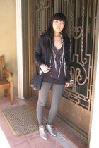 Topshop Boutique jacket - vintage purse - Marc Jacobs shoes - UO shirt