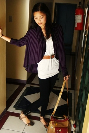 Zara blazer - Tomato blouse - thrifted belt - Topshop leggings - shoes - loewe p