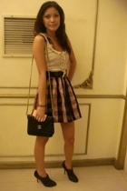 Topshop dress - Topshop top - Zara shoes - Chanel purse - Tomato belt